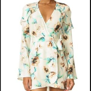 STONE COLD FOX SILK Floral GISELLE Wrap Dress 0